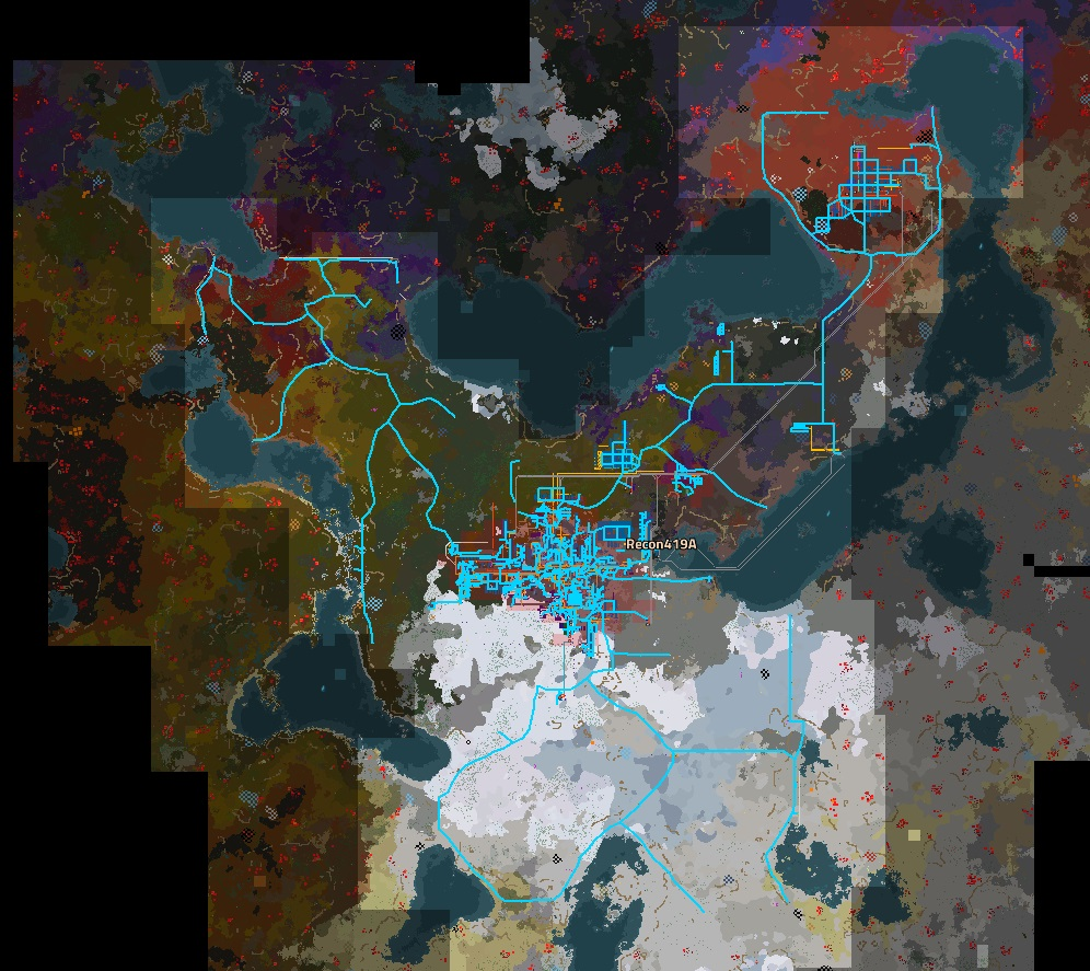 Map overview of a base using border walls