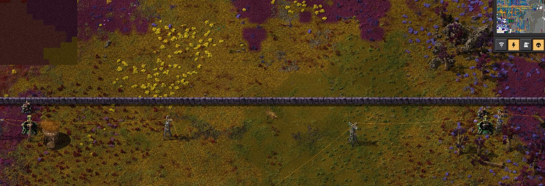 Пример того, как мало турелей нужно для пограничных стен