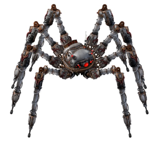 Spidertron in static T-pose