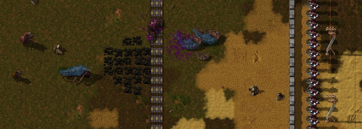 Truc du convoyeur avec le périmètre de défense laser