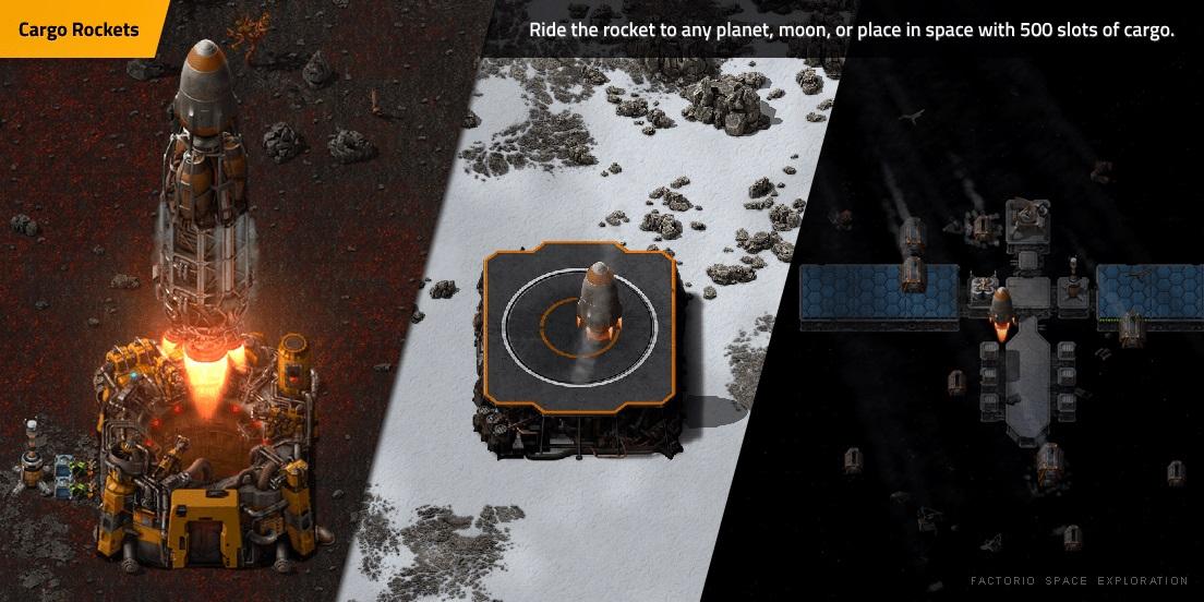 Frachtraketen: Flieg mit der Rakete zu einem beliebigen Planeten, Mond oder Ort im Weltraum mit 500 Frachtplätzen.