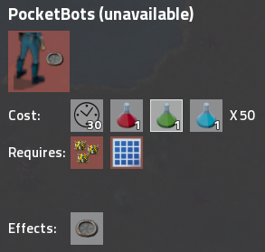 PocketBots in research menu