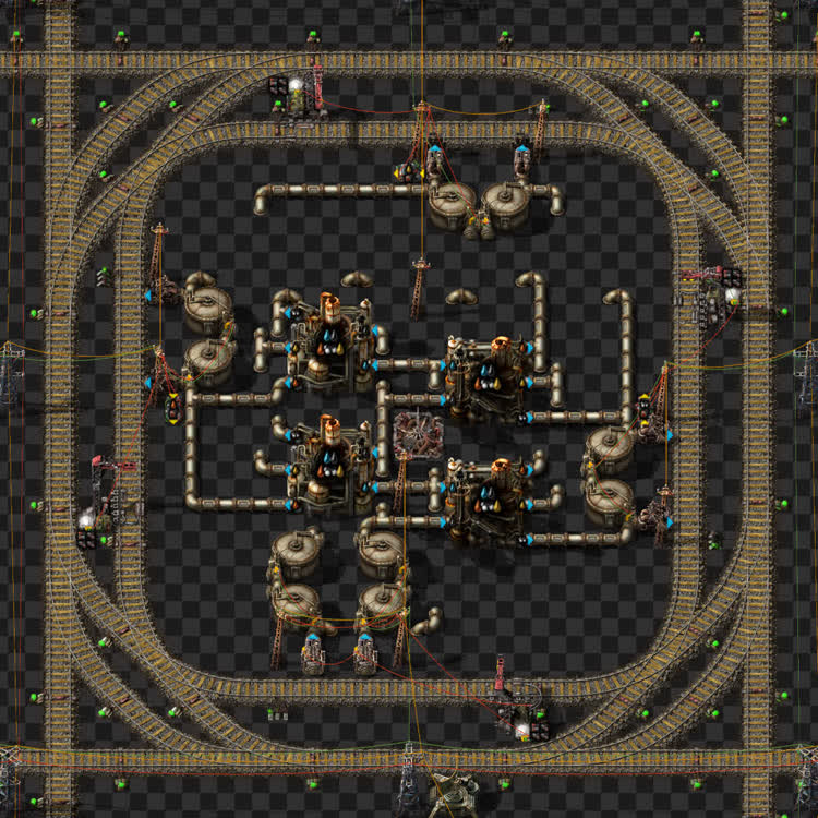 Oil refinery module