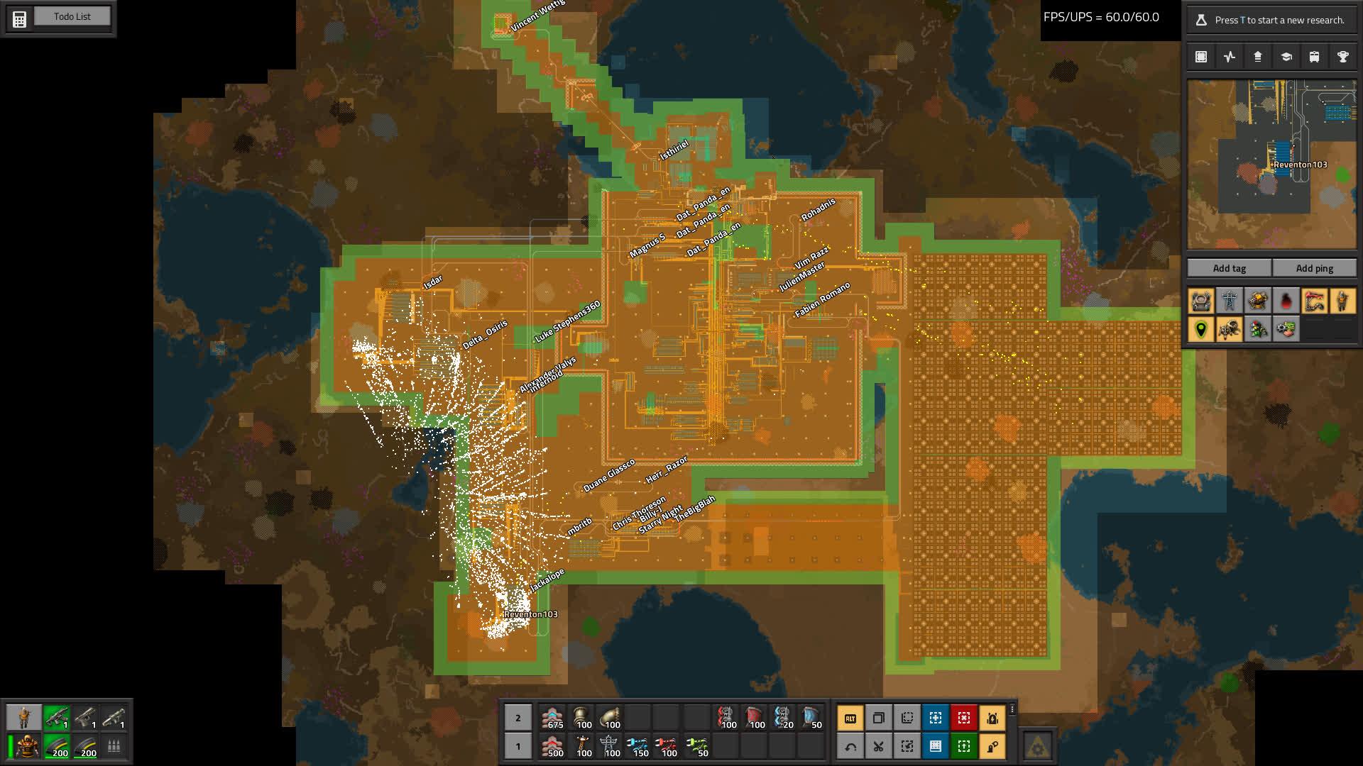Ein Großteil der Roboter einen Netzwerkes, gefangen in der Batteriereichweite.