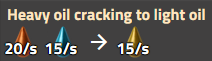 Heavy oil cracking rate