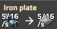 Iron plate rate
