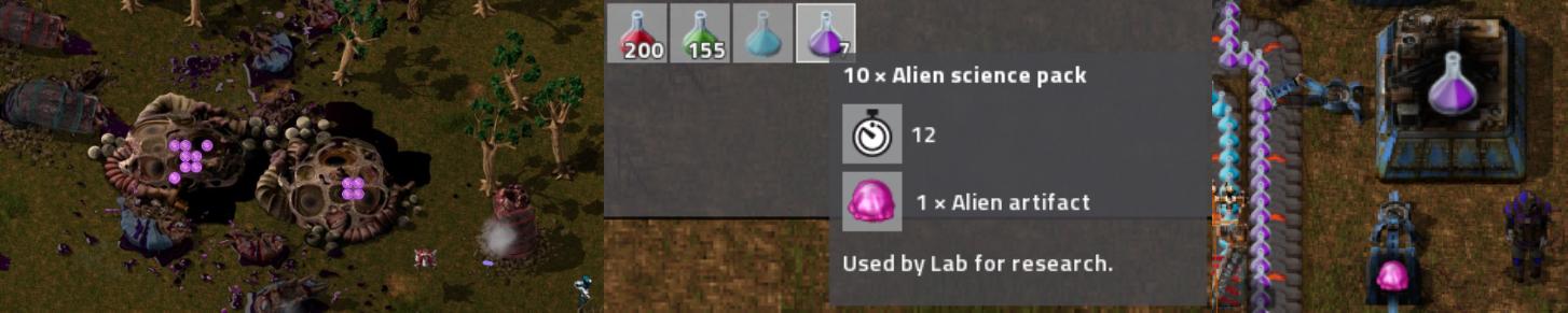 Les étapes de production de la science alien : Tuer des déchiqueteurs, assembler les potions