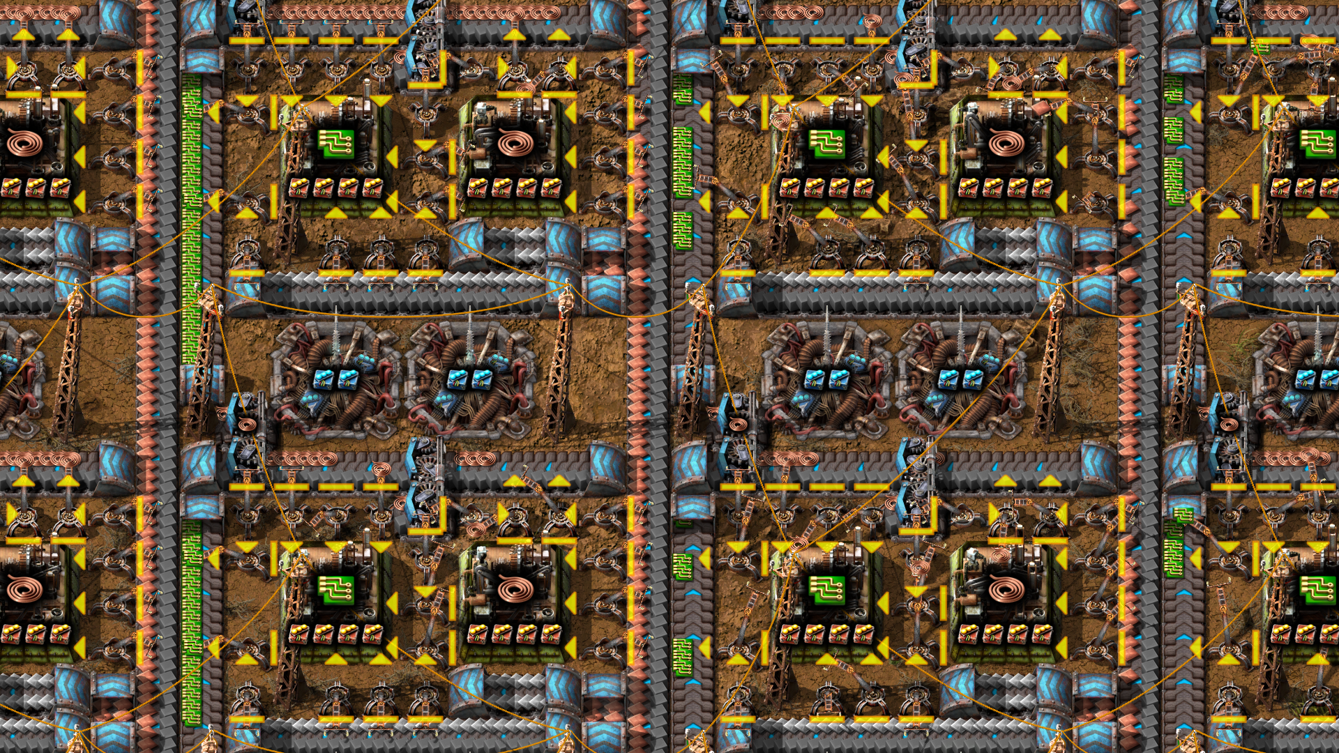 Beaconed green circuit production using burner inserters